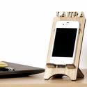 Mobiltartó - Egyedi tömörfa mobiltelefon tartó, Otthon, lakberendezés, Tárolóeszköz, Mérete: 18x8cm (12cm magasságú telefonhoz), anyagvastagság: 5mm  Saját tervezésű mobiltelefon tartó,..., Meska