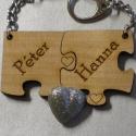 Szerelmespár fa kulcstartó + egyedi gravírozás, Mindenmás, Kulcstartó, Gravírozott fa kulcstartók szerelmespároknak, házaspároknak!  Az ár egy pár (2db) kulcstartó..., Meska