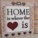 HOME fali kulcstartó, Dekoráció, Otthon, lakberendezés, Tárolóeszköz, Famegmunkálás, Praktikus fali kulcstartó bükkfából a két oldalán gravírozással kétféle változatban. A díszeket és ..., Meska