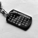 """""""Emlékezz rám"""" naptáros nemesacél kulcstartó + egyedi gravírozás, Mindenmás, Szerelmeseknek, Kulcstartó, Az ár egy 1db naptáros kulcstartóra vonatkozik!  Vastagság:  2mm  Méret:     a választott alaptól fü..., Meska"""