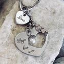 Anya kicsi szíve - nemesacél gravírozott kulcstartó édesanyáknak, Mindenmás, Anyák napja, Kulcstartó, Anya kicsi szíve kulcstartó egyedi és szívhez szóló ajándék az édesanyáknak!  Kézzel csiszolt nemesa..., Meska