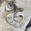 Mami kicsi szíve - nemesacél gravírozott kulcstartó nagymamáknak, Mindenmás, Anyák napja, Kulcstartó, Mami kicsi szíve kulcstartó egyedi és szívhez szóló ajándék a nagymamáknak!  Kézzel csiszolt nemesac..., Meska