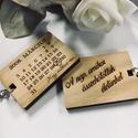 Naptáros fa kulcstartó egyedi gravírozással, Mindenmás, Szerelmeseknek, Kulcstartó, Anyák napja, Az ár egy 1db naptáros kulcstartóra vonatkozik!  Vastagság:  5mm  Méret:     kb. 5*3,5cm + a kulcsta..., Meska