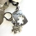 Páros nemesacél kulcstartó + egyedi gravírozás, Mindenmás, Szerelmeseknek, Kulcstartó, Gravírozott nemesacél páros kulcstartók szerelmespároknak, házaspároknak!  Az ár egy pár kulcstartór..., Meska