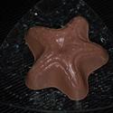 Kecsketejes szappan nyers csokoládéval, szőlőmag olajjal, banán illattal, Baba-mama-gyerek, Szépségápolás, Szappan, tisztálkodószer, Kecsketejes szappan, Tengeri csillag alakban készítek nagyon jól hidratáló kecsketejes szappant nyers, cukrozatlan csokol..., Meska