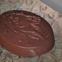 Tej-csoki szappan ló alakkal, Férfiaknak, Szépségápolás, Borotva, szappan, pipere, Szappan, tisztálkodószer, Tej, mert kecsketejes. Csoki, mert organikus kakaóvajat és valódi cukrozatlan nyers csokoládét tarta..., Meska