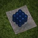 """""""Űr"""" kocka szappan, Férfiaknak, Szépségápolás, Borotva, szappan, pipere, Szappan, tisztálkodószer, Különleges alakú kézműves szappanom, mely gyönyörűen csillogó kék színben pompázik. Tömör de könnyed..., Meska"""