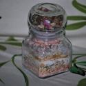 Dekoratív fürdő só egészségesen, Táska, Divat & Szépség, Szépség(ápolás), Krém, szappan, dezodor, Fürdősó, habfürdő, Egészségmegőrzés, Dekoratív üvegbe készítettem fürdő sót,  ami ajándéknak is kiváló lehet. Összetevői:  3 féle sóval k..., Meska