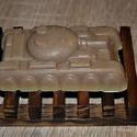 Szappan tank alakban Holt-tengeri iszappal, Férfiaknak, Táska, Divat & Szépség, Borotva, szappan, pipere, Szépség(ápolás), Krém, szappan, dezodor, Növényi alapanyagú szappan, Natúrszappan, Ezt a tankot most egy olyan bőrbarát összetétellel készítettem el ami garantáltan a pasik kedvence l..., Meska