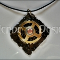 MeddeDesign Steampunk Nyakék 12110401, Steampunk stílusban készült egyedi fém-medál....