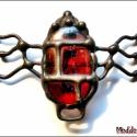 MD Üveg PolcBoga -Netete-, Saját tervezésű egyedi kézműves alkotás.  Az...