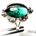 M. D.  Üveg GyűrűBoga   Galitzia , Saját készítésű színesüvegből, vörösréz...