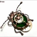 Medde Steampunk MechaBoga - BrossBoga  Settr'e , 15mm-es kitűző alapra építve.  A Bogák egyedi...
