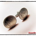 Retro 2 Forintos Mandzsettagomb pár , Férfiaknak, Mandzsettagomb, Fémmegmunkálás, Eredeti retro 2 forintos érméből készített (fémes kötés, nem ragasztás!) mandzsettagomb (kézelő gom..., Meska