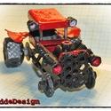 RatRod dekorjármű (festett acél), Dekoráció, Férfiaknak, Otthon, lakberendezés, Legénylakás, Egyedi építésű Rat Rod dekorációs jármű beltéri használatra. Acél kötőelemekből (csavarok) és egyéb ..., Meska