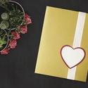 WADE ESKÜVŐI MEGHÍVÓ, Esküvő, Szerelmeseknek, Meghívó, ültetőkártya, köszönőajándék, Fotó, grafika, rajz, illusztráció, Papírművészet, ESKÜVŐI MEGHÍVÓ SZATÉNSZALAGGAL ÉS PAPÍRSZÍVVEL  • alapja csillogó karton • melyre egy fehér szatén..., Meska