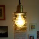 Rugó Edison lámpabúra, Otthon, lakberendezés, Lámpa, Hangulatlámpa, Fali-, mennyezeti lámpa, Mindenmás, Drót spirál lámpabúra Edison típusú villanykörtéhez ajánlott.  Hangulatlámpa otthonra vagy vendéglá..., Meska