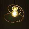 """Gyöngysor Edison lámpabúra, Otthon, lakberendezés, Lámpa, Hangulatlámpa, Fali-, mennyezeti lámpa, Mindenmás, Gyöngyfűzés, Drótból és üveggyöngyökből készült """"lámpabúra"""", lámpadísz Edison típusú villanykörtéhez ajánlott.  ..., Meska"""
