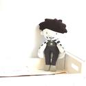 Baba Rongybaba Játék baba Játékbaba Fiú baba, Játék, Baba, babaház, Játékfigura, Varrás, Textil fiú baba levehető köpenyben.  Magassága 25 cm.  Fém alkatrészeket nem tartalmaz. Szeme, száj..., Meska