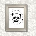 """Panda illusztráció repró reprodukció nyomat print grafika, Képzőművészet, Illusztráció, Grafika, Rajz, Babaváró ajándékot keresel, épp a gyerekszobát alakítod ki/át vagy dekorációt keresel?  A """"PANDA_FF""""..., Meska"""