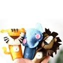 Állatos ujjbábok - Válassz 17 állat közül - róka nyúl medve tigris oroszlán ..., Baba-mama-gyerek, Játék, Báb, Játékfigura, Ez a termék egy háromdarabos ujjbáb csomag (6.990 Ft/3 darab, 2.330 Ft/darab).  Vásárlás esetén, kér..., Meska