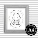 Illusztráció repró reprodukció nyomat print grafika festmény fekete fehér róka rókás, Képzőművészet, Illusztráció, Grafika, Rajz, Babaváró ajándékot keresel, épp a gyerekszobát alakítod ki/át vagy dekorációt keresel?  Keretezhető ..., Meska