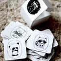 BIBURI kártya - dekoráció - memóriajáték - memóriakártya- állat panda mosómedve csikóhal hal nyúl róka, Játék, Dekoráció, Készségfejlesztő játék, Többféleképpen használható kártyacsomag: gyurmaragasztóval/ragasztóval képkeretbe, bútorra, játéktár..., Meska