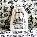 Hátizsák gyerekeknek - medve maci mackó - fekete fehér - skandináv - gymbag, Medvés hátizsák gyerekeknek saját grafikámmal...
