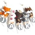 Ötbetűs névre szóló gyerekszoba dekoráció állatokkal RENDELÉSRE, Ötbetűs dekoráció rendelésre. Egy egység 3.5...