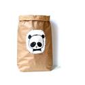 Papír tároló zsák Papírzsák Papírzacskó - Panda fej, Otthon, lakberendezés, Tárolóeszköz, Kézzel festett, erős, háromrétegű papírból készült tároló zsák. Teljes méret: 45x80x13 cm; a képeken..., Meska