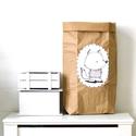 Papír tároló zsák Papírzsák Papírzacskó - Róka, Otthon, lakberendezés, Tárolóeszköz, Kézzel festett, erős, háromrétegű papírból készült tároló zsák. Teljes méret: 45x80x13 cm; a képeken..., Meska