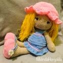 Dolly baba, Játék, Baba játék, Horgolt kislány, levehető ruhával , Meska