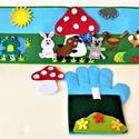 A gomba alatt interaktív ujjbáb könyv , Játék & Gyerek, Bábok, Báb készlet, Baba-és bábkészítés, Varrás, Saját tervezésű interaktív ujjbáb könyv A gomba alatt történethez, amely nem csak kitűnő szórakozás..., Meska