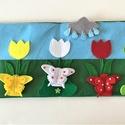 A három pillangó interaktív ujjbáb könyv, Játék & Gyerek, Bábok, Báb készlet, Baba-és bábkészítés, Varrás, Saját tervezésű interaktív ujjbáb könyv  A három pillangó történethez, amely nem csak kitűnő szórak..., Meska