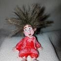 Lápi kobold 2., Dekoráció, Férfiaknak, Otthon, lakberendezés, Dísz, Piros ruhácskás imádni való kis kobold fiúcska:) Kézzel festett, sok-sok szeretettel:)  Méret..., Meska