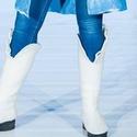 Nemez csizma(natúr), Ruha, divat, cipő, Cipő, papucs, Ősi technikával ,kézi nemezezeléssel készült gyapjú csizma 39-es méretben. Őszi divatbemuta..., Meska
