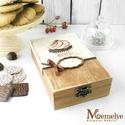 Sütis doboz, kekszes doboz, muffin, Otthon, lakberendezés, Tárolóeszköz, Doboz, Kézzel festett muffin mintával díszített díszdoboz.  MÉRET (külső): -Szélesség: 20 cm -Mélység: 12 c..., Meska