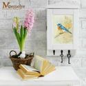 Kulcsos szekrény, kék madár, Festett kék madár mintával díszített kulcstar...