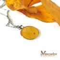 Őszi levél nyaklánc, Ékszer, Nyaklánc, Valódi, napsütést idéző, sárga levélke műgyantába zárva.  Az őszi falevelet préseltük, majd gondos e..., Meska