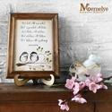 Házi áldás, Otthon, lakberendezés, Dekoráció, Falikép, Házi áldás, kézzel festett madaras mintával kiegészítve, klasszikus fakeretben.   A házi áldás szöve..., Meska