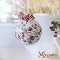 Kézzel festett karácsonyi gömb szett, csipkebogyó, Otthon & lakás, Karácsony, Dekoráció, Ünnepi dekoráció, Karácsonyfadísz, Régi idők mézeskalács-illatú Karácsonyait varázsolják otthonodba ezek a kézzel festett díszek.   A f..., Meska
