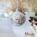 Kézzel festett karácsonyi gömb szett, magyal, Dekoráció, Karácsonyi, adventi apróságok, Ünnepi dekoráció, Karácsonyfadísz, Régi idők, mézeskalács-illatú Karácsonyait varázsolják otthonodba ezek a kézzel festett díszek.  A f..., Meska
