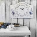 Vintage Falióra Levendula, Otthon & lakás, Lakberendezés, Falióra, óra, Kézzel festett levendulás mintával díszített, vintage hangulatú falióra.  MÉRET: (külső):  35 cm x 2..., Meska