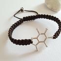 Ha kell egy kis kávé ! , Ékszer, Karkötő, Kávé molekula összekötő elemből ( 2.5 cm ) készítettem a karkötőt sötét barna shamballa ..., Meska
