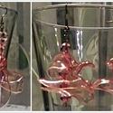 Fülbevaló pet-palackból, gyöngyökből, Ékszer, Fülbevaló, Ékszerkészítés, Újrahasznosított alapanyagból készült termékek, Aprólékos kézműves munkával rózsaszín pet-palack újrahasznosításával és hozzáadott gyöngyökkel kész..., Meska