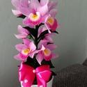 Bambusz orchidea harisnyából., Otthon & Lakás, Dekoráció, Asztaldísz, Virágkötés, Micsodaaaaa??? Ez a bambusz orchidea anyák napja alkalmából 20% kedvezménnyel kapható? IGEN! A kerá..., Meska