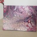Rózsaszín sejtlabirintus - akril festmény, Dekoráció, Otthon, lakberendezés, Kép, Falikép, Egyedi készítésű vászonra készült akril festmény.  Mérete: 18cm x 24cm, Meska