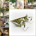 A bohém menyasszony - fleur design fülbevaló, Ékszer, óra, Esküvő, Fülbevaló, Esküvői ékszer, Ékszerkészítés, Romantikus, ultranőies és pillekönnyű... nem csak bohém menyasszonyoknak...  Teljes hossza 6,8 cm., Meska