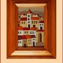 Tűzzománc kép , Képzőművészet, Dekoráció, Kép, A zománc mérete: 150mmx100mm. A keret fa 25mm széles. Teljes mérete:230mmx180mm., Meska