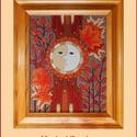 Tűzzománc kép , Képzőművészet, Dekoráció, Kép, A zománc mérete: 250mmx200mm. A keret fa 25mm széles. Teljes mérete:330mmx280mm., Meska